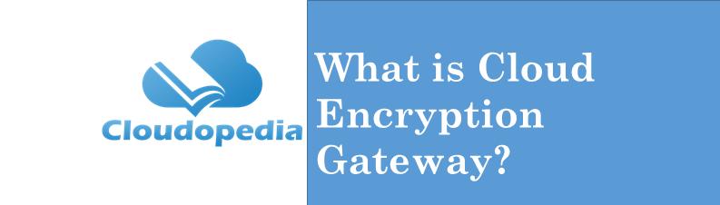 Definition of Cloud Encryption Gateway